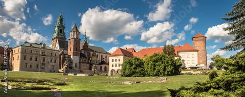 Fototapeta panorama of Wawel cathedral in Krakow, Poland obraz