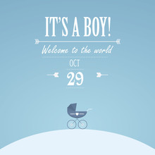 It's A Boy Invitation For Baby...