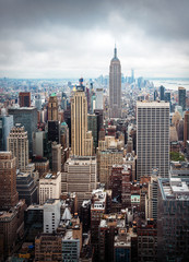 FototapetaNew York City Manhattan midtown aerial view