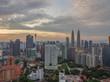 Aerial view of downtown Kuala Lumpur