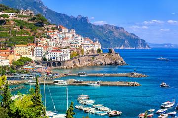 Panel Szklany Do pizzerii Amalfi town in southern Italy near Naples