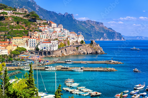 Amalfi town in southern Italy near Naples Wallpaper Mural