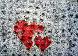Valentinstag - Zwei Herzen auf Stein