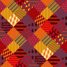 Print For Fabric. Patchwork In...