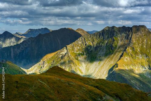 Fototapety, obrazy: Mountain range at sunset
