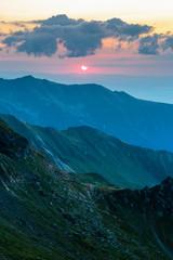 FototapetaMountain range at sunset