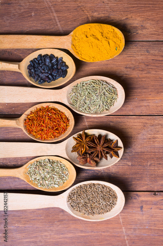 Foto op Canvas Kruiden assortment of spices