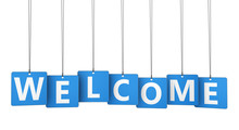 Welcome Sign Paper Tags