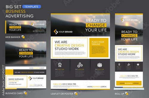 Vector Brochure Flyer design Layout template for business
