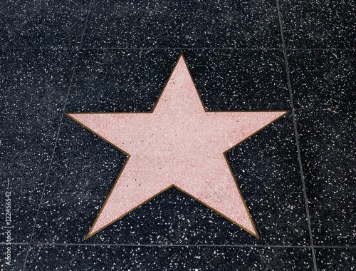 Hollywood Empy Blank Star Wallpaper Mural