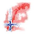 vector map of Norway Watercolor paint