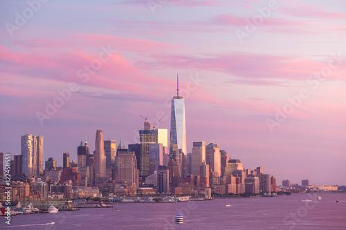 Poster Chicago Downtown Manhattan skyline at sunset