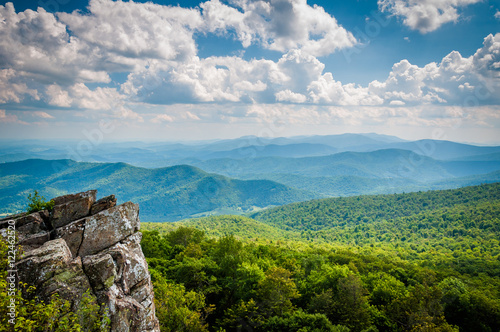 View of the Blue Ridge Mountains from North Marshall Mountain in Wallpaper Mural