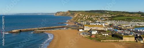 Poster Cote West Bay Dorset England uk Jurassic coast south of Bridport panoramic view