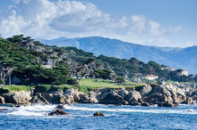 Coastline Along The 17 Mile Drive In Pebble Beach Of  Monterey P