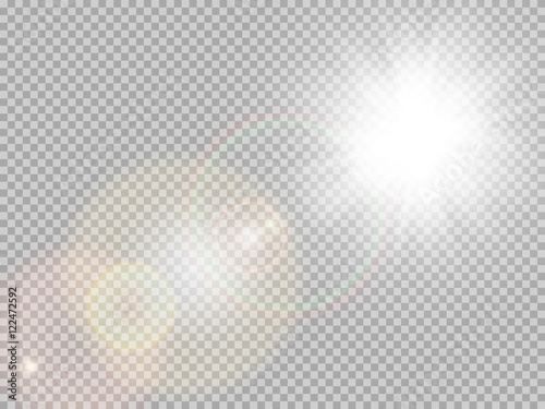 Canvas Print Sunlight special lens flare. EPS 10