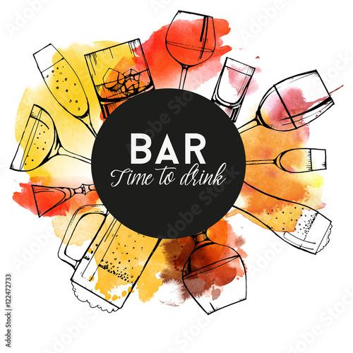 projekt-ulotki-z-napojami-alkoholowymi-logo-bar-pub