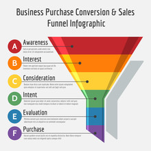 Business Purchase Conversion Or Sales Funnel Infographic Vector Illustration