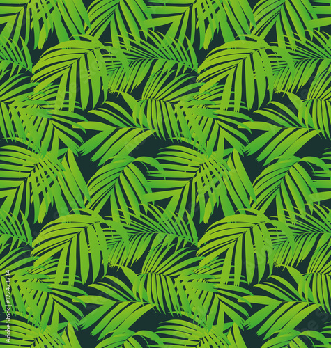 Recess Fitting Tropical Leaves leaf seamless pattern