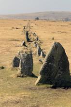 Merrivale Ancient Stone Row, T...