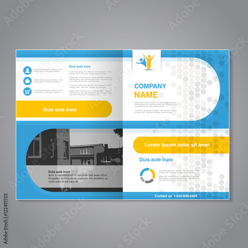 vector modern brochure abstract flyer simple dotted design with background of monochrome buildings
