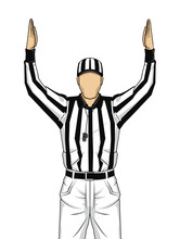 American Football Referee With...