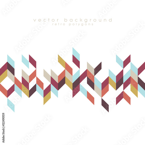 Bohemian style pattern with colorful triangle shapes. Polygonal vector background Wall mural