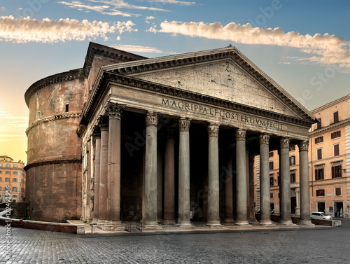 Pantheon in Rome at sunrise Canvas Print