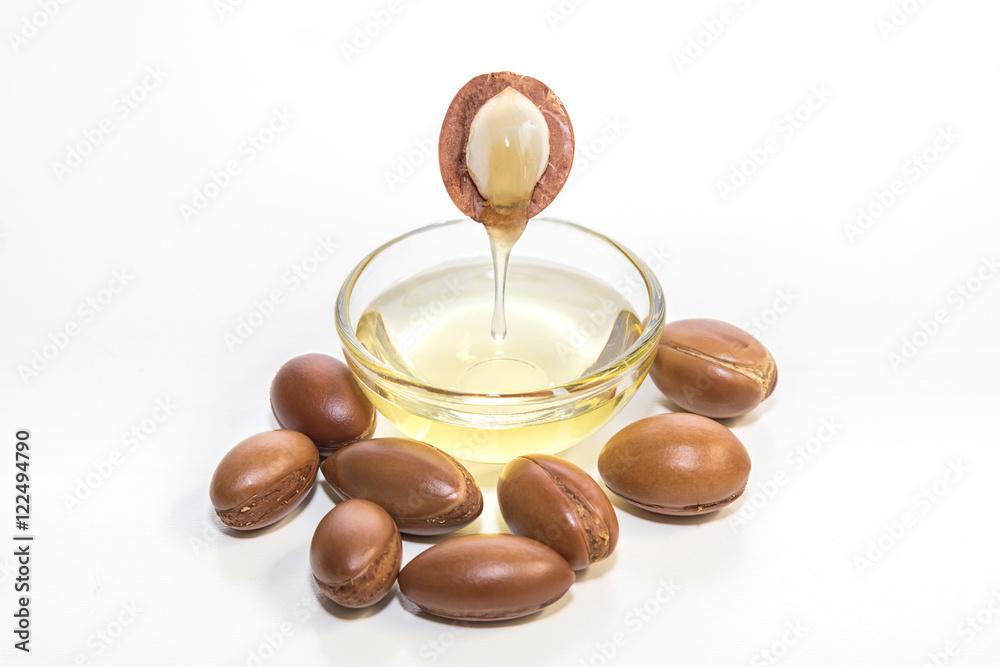 Fototapety, obrazy: Argan oil. Much appreciated in cosmetics.