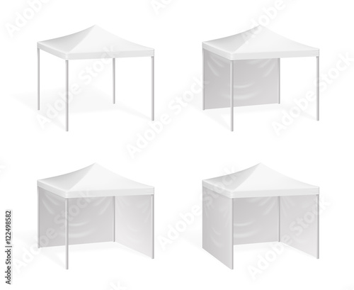 Vector canopy. Pop up tent for outdoor event Wall mural