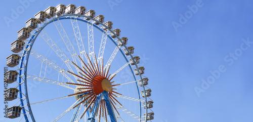 Photo sur Aluminium Attraction parc Big ferris wheel