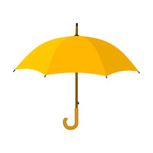 Yellow Umbrella Icon.