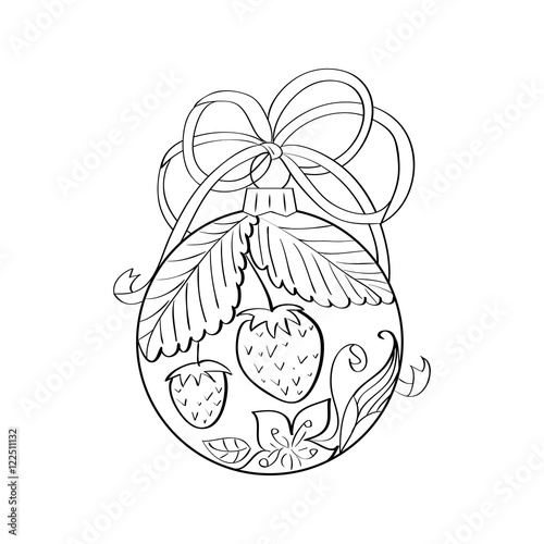 Adult Christmas Bells Zentangle Coloring Pages Printable | 500x500