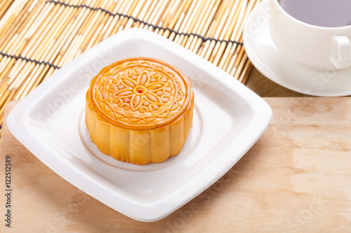 Chinese mid autumn festival foods. Traditional moon cakes on table setting with teacup. : traditional chinese table setting - Pezcame.Com