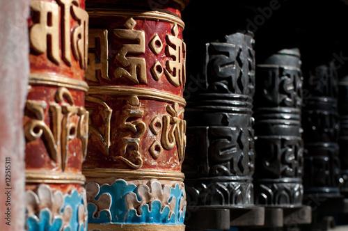 Staande foto Nepal Indian drums for prayer