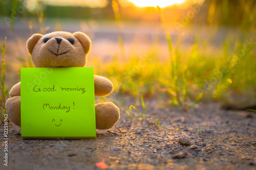 Teddy bear on nature background
