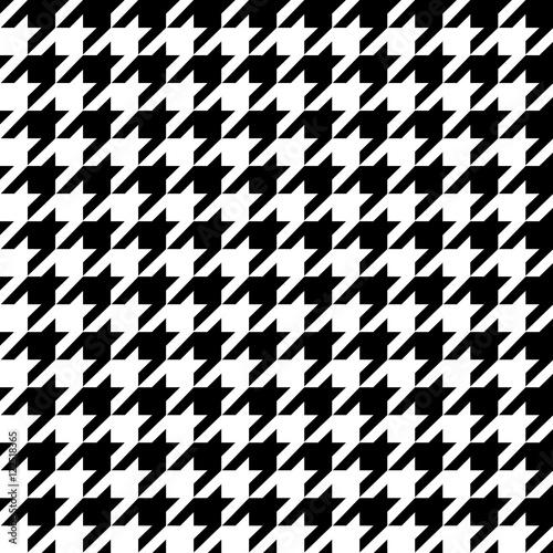 Photo  Fashionable seamless pattern hundstuth black and white textiles
