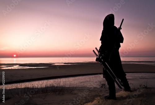 assassin at the sea Canvas Print