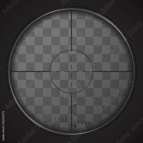 Cuadros en Lienzo  Realistic sniper sight on transparent background