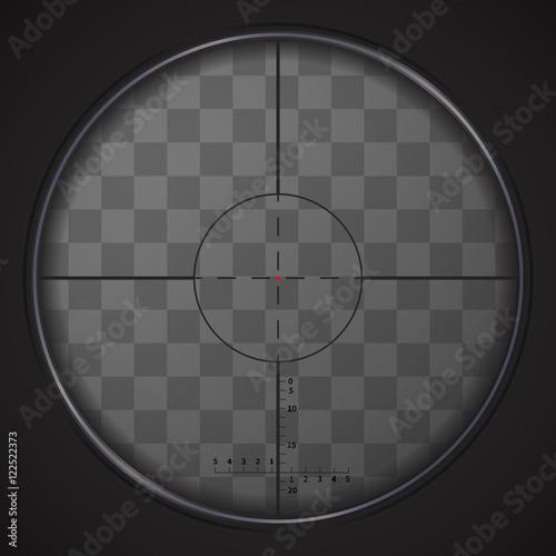 Fotografía  Realistic sniper sight on transparent background