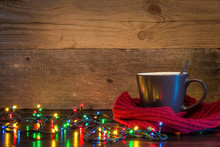 Christmas Background With Cup ...
