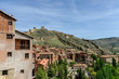 sight of the houses of the picturesque medieval people of Albarracin in the province of Teruel, Aragon, Spain