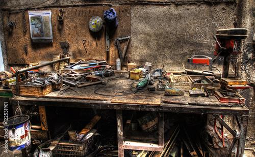 Fotografie, Obraz  viejo taller de trabajo