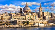 Panoramic View Of Valletta . Malta