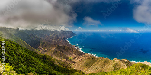 Printed kitchen splashbacks Canary Islands View of the mountains, the sky and the atmosphere in Tenerife, Canary Islands, Spain