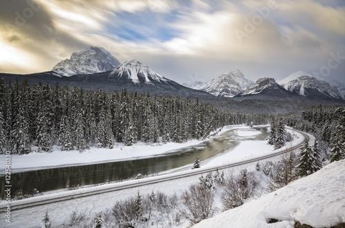 Railway Line Banff National Park, Alberta, Canada