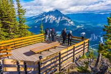 Views From Sulphur Mountain, Banff, Alberta, Canada