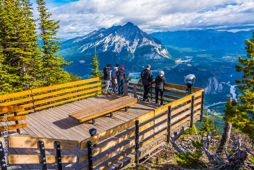 Spoed Foto op Canvas Gondolas Views from Sulphur Mountain, Banff, Alberta, Canada