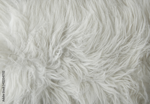 Photo  A full page of white fluffy fabric texture