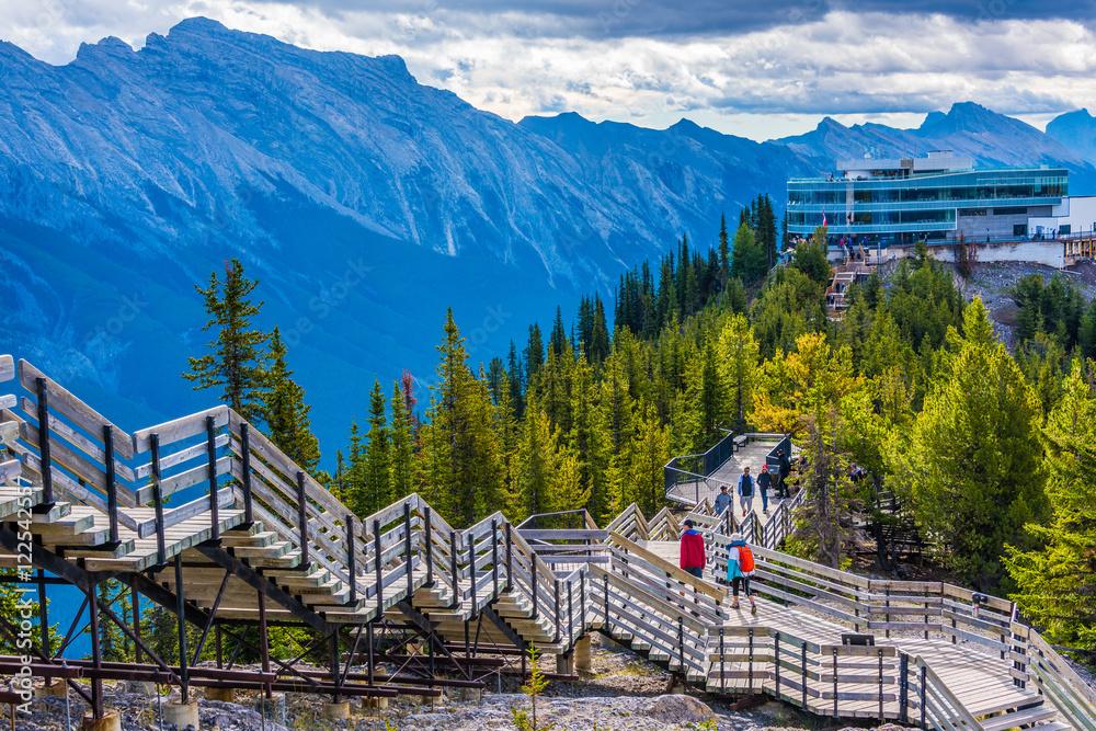 Fototapeta Views from Sulphur Mountain, Banff, Alberta, Canada